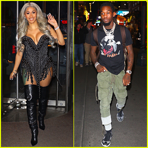 Cardi B & Fiance Offset Show Off Their Styles While Out in NYC