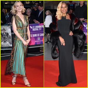 Carey Mulligan & Mary J. Blige Stun at the BFI London Film Festival