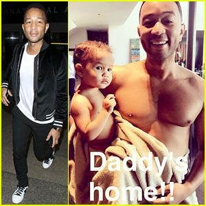 Chrissy Teigen Shares Shirtless Snap of 'Daddy' John Legend