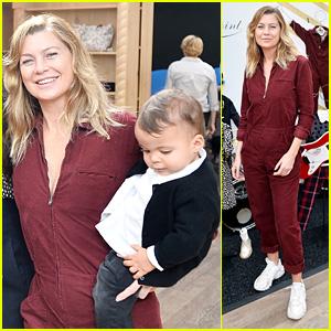 Ellen Pompeo & Baby Son Eli Look Happy at Bonpoint x Baby2Baby Family Celebration!
