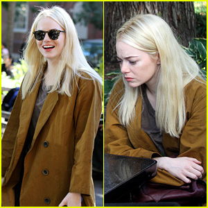 Emma Stone Plays Chess Against a Puppet While Filming Netflix Series 'Maniac' in NYC!