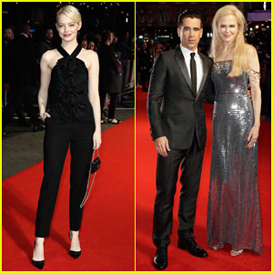 Emma Stone Joins Colin Farrell & Nicole Kidman at 'Killing of a Sacred Deer' London Film Fest Premiere!