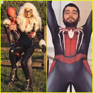 Gigi Hadid Goes Sexy as Black Cat for Halloween with Zayn Malik as Spider-Man!