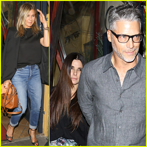 Jennifer Aniston Joins Sandra Bullock & Bryan Randall for Dinner!