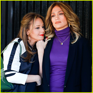 Jennifer Lopez & Leah Remini Stay Close on 'Second Act' Set