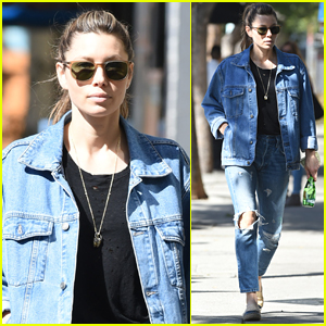 Jessica Biel Rocks Denim on Denim in Los Angeles
