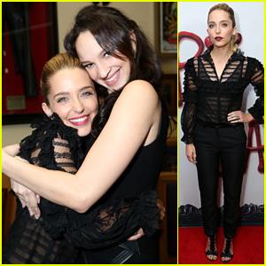 Jessica Rothe & Ruby Modine Share a Big Hug at 'Happy Death Day' World Premiere!