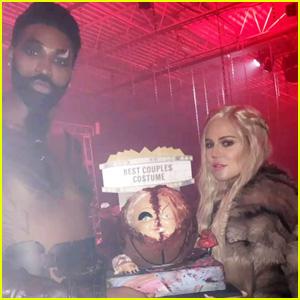 Khloe Kardashian Seemingly Confirms Pregnancy with Halloween Pic!