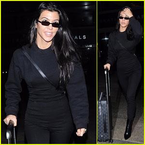 Kourtney Kardashian Keeps it Chic in All Black After Returning From Paris Fashion Week!