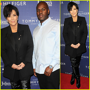 Kris Jenner & Corey Gamble Couple Up at Tommy Hilfiger VIP Reception Amid Breakup Rumors