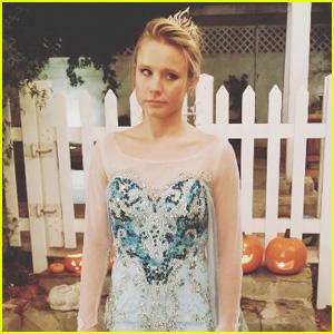 Kristen Bell's Daughter Made Her Dress as Frozen's Elsa for Halloween