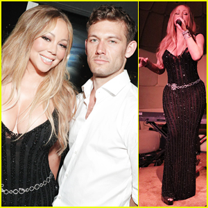 Mariah Carey Buddies Up with Alex Pettyfer at Karl Lagerfeld's Intimate Dinner Party!