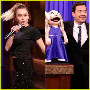 Miley Cyrus Competes in 'Lip Sync Battle' with Jimmy Fallon - Watch Now!