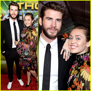Miley Cyrus & Liam Hemsworth Make Rare Red Carpet Appearance at 'Thor' Premiere