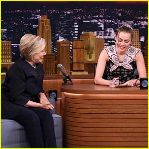 Miley Cyrus Cries While Thanking Hillary Clinton & Asks for a Hug - Watch Now!