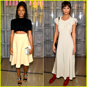 Naomie Harris & Emily Ratatjkowski Doll Up for Miu Miu Show