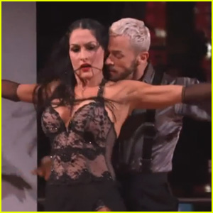 Nikki Bella Does 'Fifty Shades' Inspired Dance on 'DWTS' While John Cena Watches (Video)
