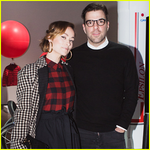 Olivia Wilde & Zachary Quinto Celebrate Tech & Innovation in Apparel at Uniqlo Party!