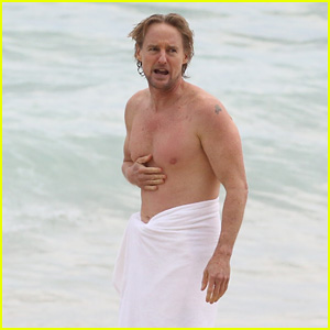 Owen Wilson Goes Shirtless for a Swim in Rio!
