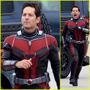 Paul Rudd Runs in Costume on the Set of 'Ant-Man and The Wasp' - First Look!