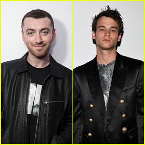 Sam Smith Shares a Kiss With '13 Reasons Why' Star Brandon Flynn in NYC!