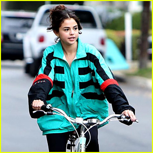 Selena Gomez Goes for Halloween Afternon Bike Ride
