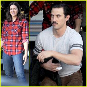 Milo Ventimiglia & Mandy Moore Film 'This Is Us' Scene Together