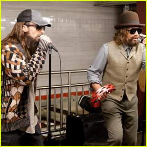 Adam Levine & Jimmy Fallon Surprise People by Singing in the Subway in Disguise (Video)