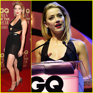 Amber Heard Celebrates Australia's Vote to Legalize Same Sex Marriage at GQ Men of the Year Awards!