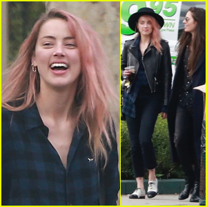 Amber Heard Shows Off Her New Pink Hair While House Hunting