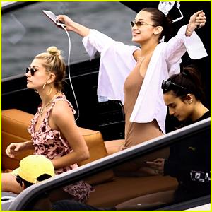 Bella Hadid & Hailey Baldwin Live It Up on Miami Boat Ride