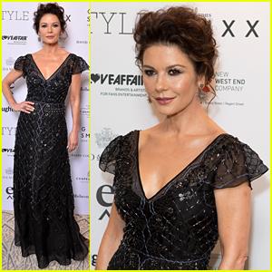 Catherine Zeta-Jones Looks Glam at Walpole British Luxury Awards 2017