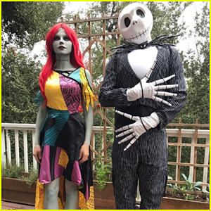 Channing Tatum & Wife Jenna Dress Up As Jack & Sally from 'Nightmare Before Christmas' for Halloween!