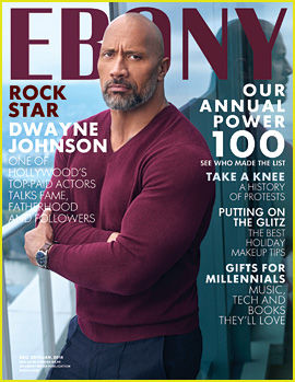 Dwayne Johnson Poses On Top of the World for 'Ebony' Cover!