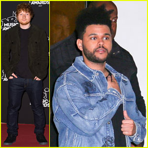 Ed Sheeran & The Weeknd Step Out For NRJ Music Awards In Cannes