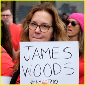 Actress Elizabeth Perkins Names James Woods at #MeToo Survivors March