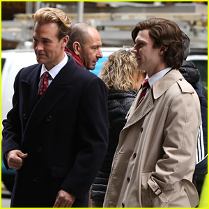 Evan Peters & James Van Der Beek Film Pilot for Ryan Murphy Show 'Pose' - See Pics From the Set!