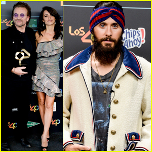 Jared Leto & Penelope Cruz Hit the Carpet at the Los 40 Music Awards!