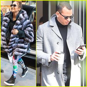 Jennifer Lopez & Alex Rodriguez Bundle Up For NYC Afternoon