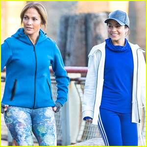 Jennifer Lopez & Vanessa Hudgens Are Running Buddies on 'Second Act' Set!