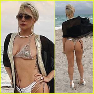 Lady Gaga Flaunts Her Sexy Bikini Body in Miami!