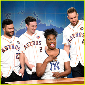 Leslie Jones Meets 'Fine as Hell' Houston Astros Players on 'SNL' - Watch Now!