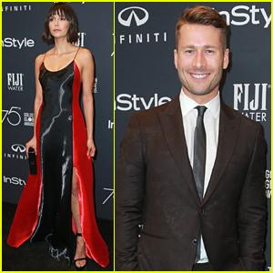 Nina Dobrev & Boyfriend Glen Powell Couple Up for InStyle's Golden Globes 2018 Celebration