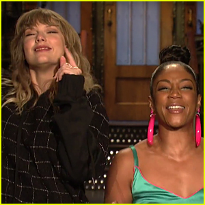 Taylor Swift & Tiffany Haddish Do a Happy Dance in 'SNL' Promo (Video)