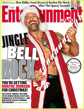 Dwayne 'The Rock' Johnson Dresses as Shirtless Santa!