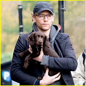 Tom Hiddleston Carries Adorable Puppy in His Arms in London