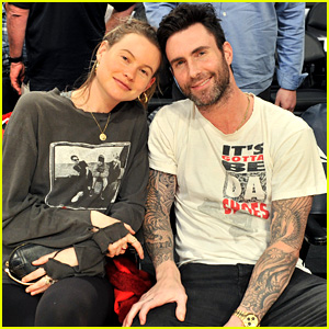 Adam Levine & Pregnant Behati Prinsloo Enjoy a Courtside Date Night at Lakers Game!