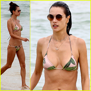 Alessandra Ambrosio Continues Her Beach Vacation in Brazil!