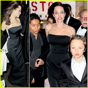 Angelina Jolie & Her Kids Get Dressed Up for Black Tie Event!