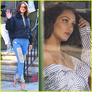 Bella Hadid Bares Some Skin During Sultry NYC Photo Shoot